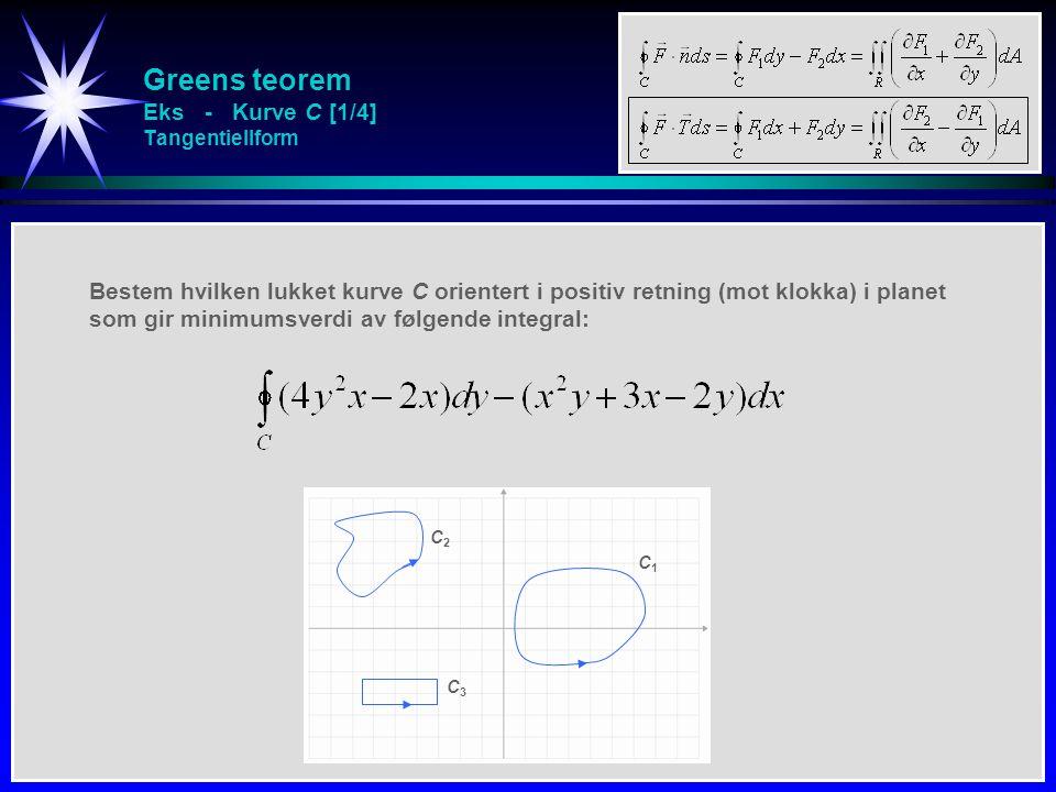 Greens teorem Eks - Kurve C [1/4] Tangentiellform